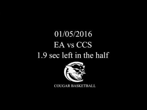 Buzzer beater Escambia Academy vs Central Christian 1/5/16 EA Cougars
