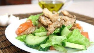 Овощной салат с курицей Легкий и вкусный