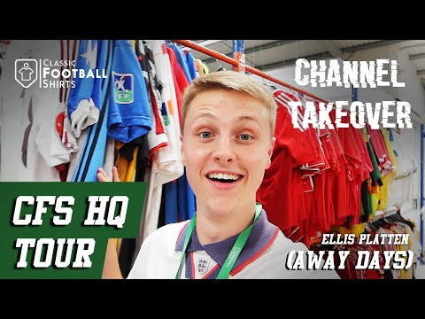 Classic Football Shirts Warehouse Tour - Away Days Channel Takeover