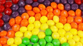 Amazing Skittles Underwater Rainbow Waterfall Trick! Satisfying Rainbow of Colors in 3D