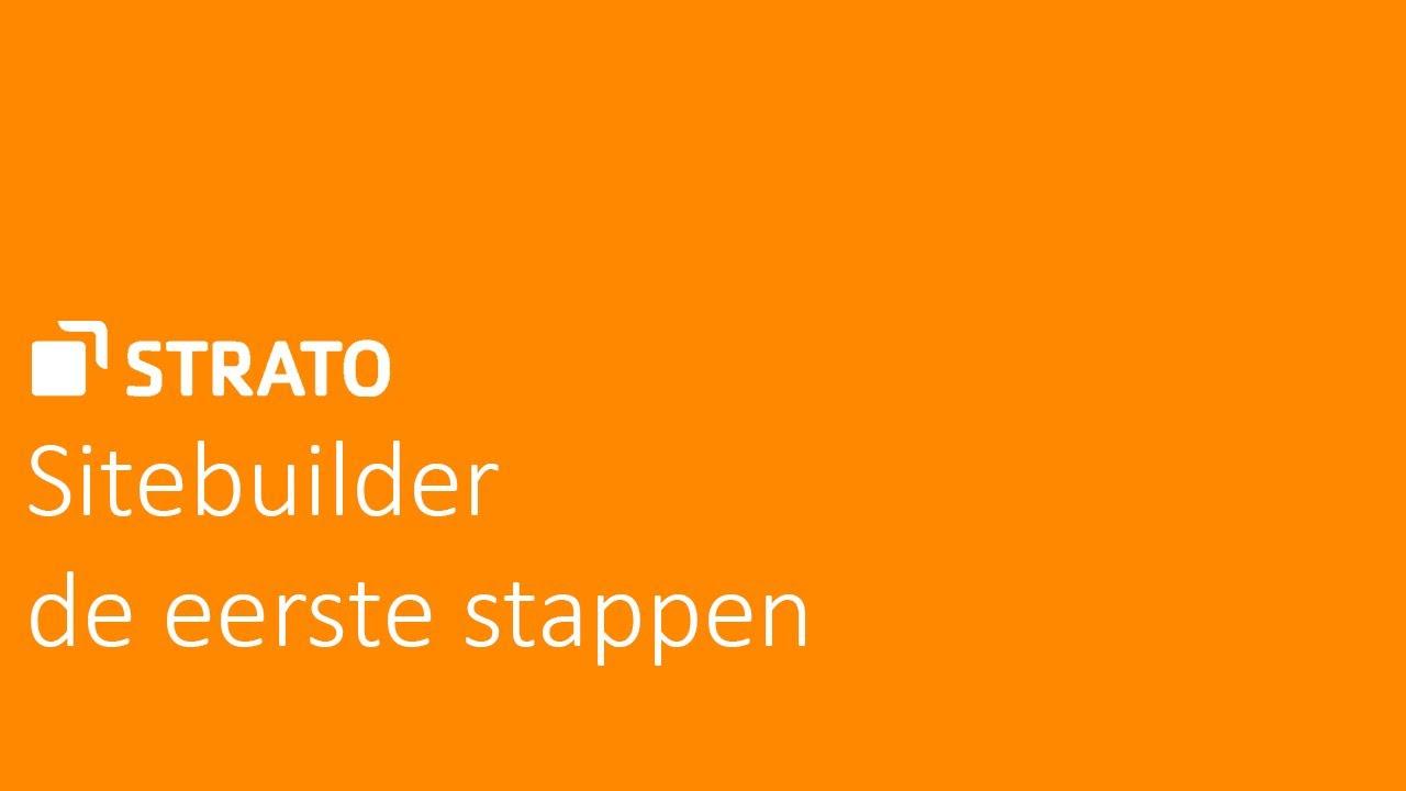 De eerste stappen met Sitebuilder  STRATO Tutorial