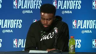 Jaylen Brown Postgame Interview   Celtics vs Bucks - Game 4   April 22, 2018   2018 NBA Playoffs