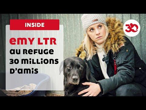 La youtubeuse Emy Ltr au refuge 30 Millions d'Amis