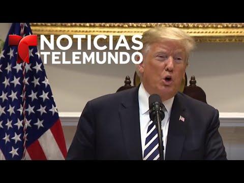 El presidente Donald Trump habla sobre la inmigración ilegal | Noticiero | Telemundo