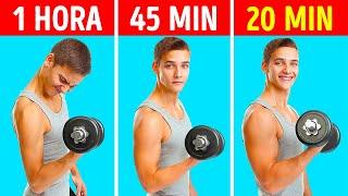 Una forma de hacer menos ejercicio y obtener músculos más grandes que solo los entrenadores conocen