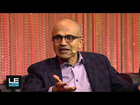 Satya Nadella, Cloud & Enterprise Group, Microsoft and Om Malik, Founder & Senior Writer, GigaOM