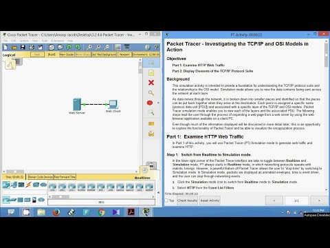 3.2.4.6 Packet Tracer - Investigating the TCP IP and OSI Models in Action