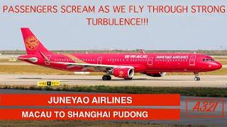 JUNEYAO AIR - ECONOMY   MACAU TO SHANGHAI PUDONG   A321   LOUNGE ACCESS   TRIP REPORT
