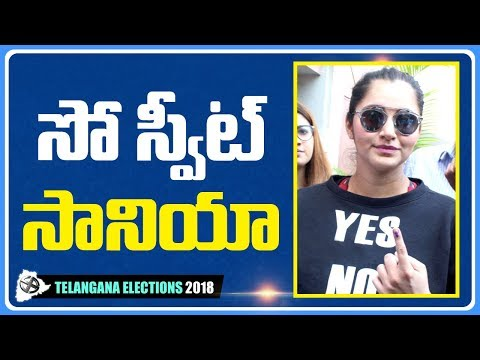 Sania Mirza Casts Her Vote | #TelanganaElections | NTV