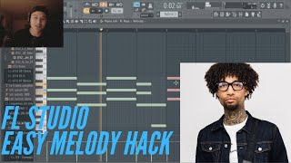 How To Make Melodies On FL Studio | EASY MELODY HACK TUTORIAL