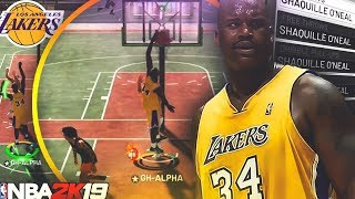 PRIME LAKERS SHAQUILLE O'NEAL IS UNSTOPPABLE ON NBA 2K19! UNGUARDABLE *NEW* POST SCORING ANIMATIONS!