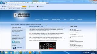 EasyBB Blackberry Unlock  Software MEP Codes Calculator