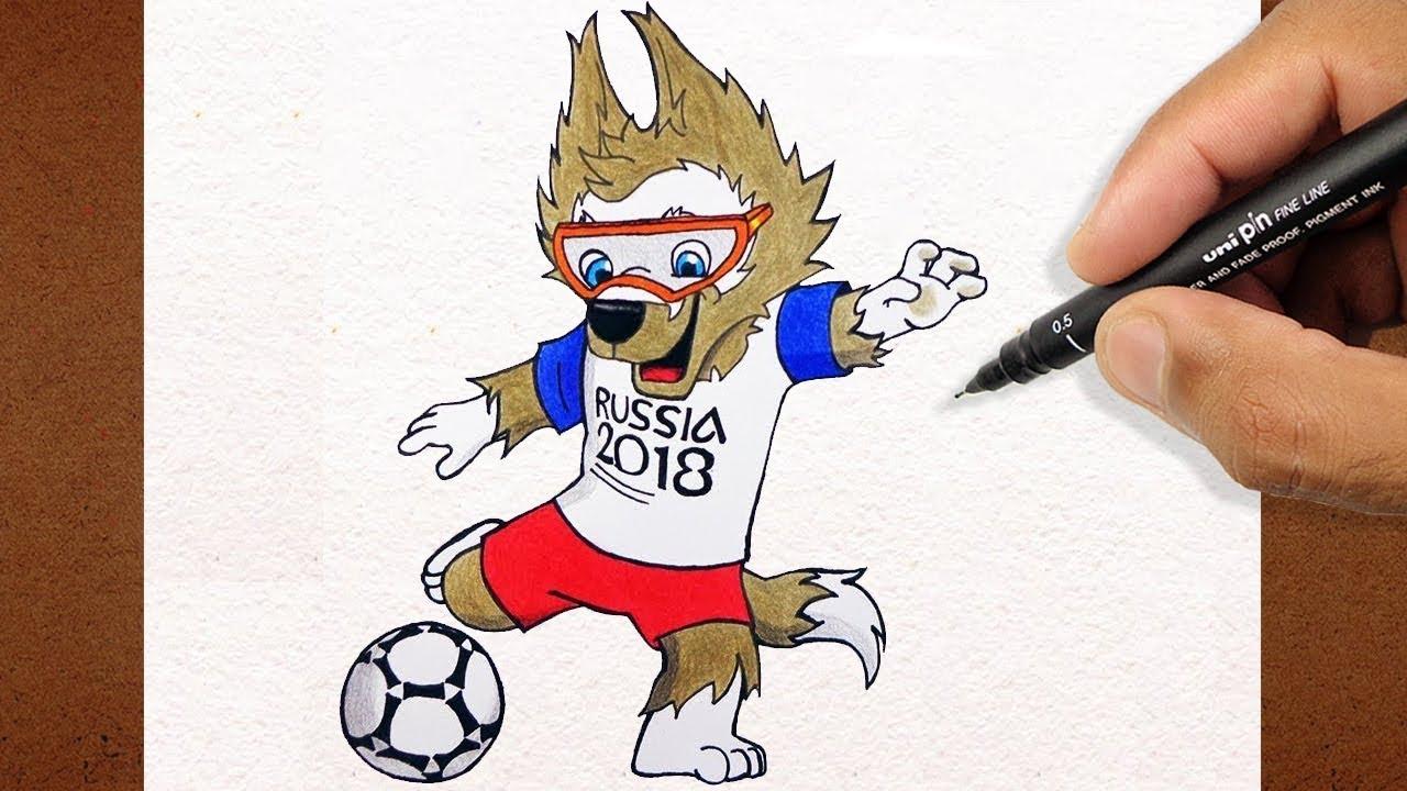 Como Desenhar E Pintar O Zabivaka Mascote Da Copa Russia 2018