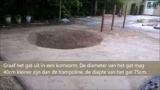 TOP Buitenspeelgoed   Berg Trampoline ingraven