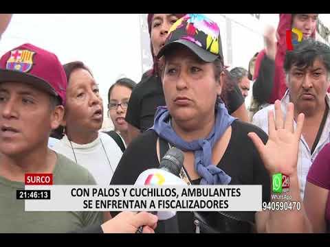 Surco: con palos y cuchillos se desató enfrentamiento entre ambulantes y fiscalizadores