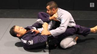 Ibrahim iNAL shows Closed Guard Transition to Arm Bar Choke Seat Belt Control with Leo Vieira