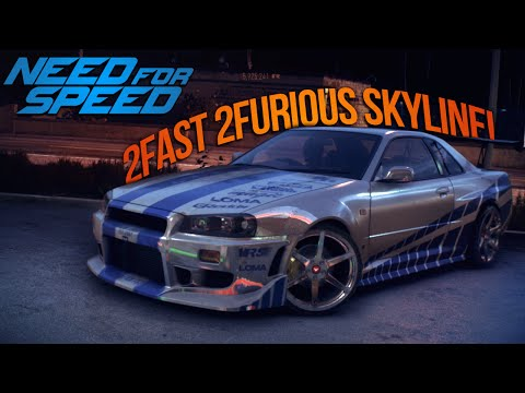 Need for Speed 2015 Paul Walkers 2 Fast 2 Furious R34 Skyline! (NFS Showcase)