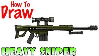 How to Draw the Heavy Sniper Rifle | Fortnite