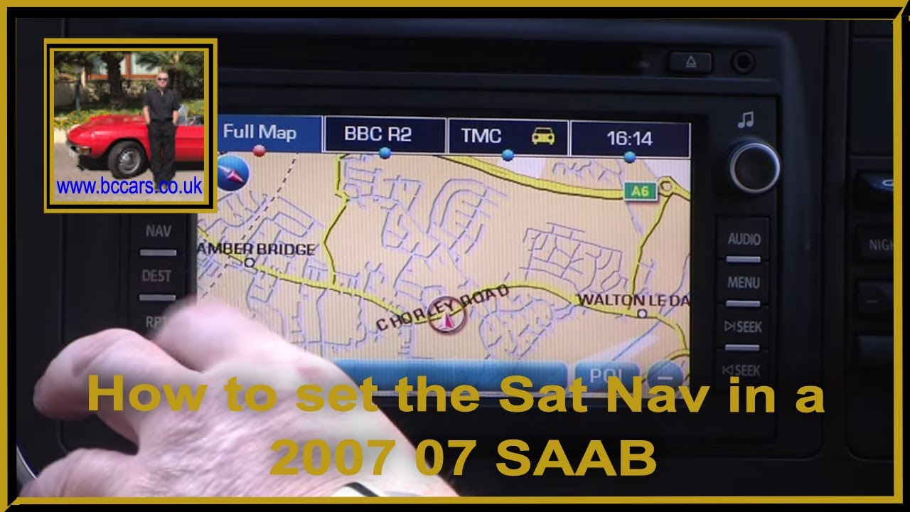 how to set the sat nav in a 2007 07 saab 9 3 1 9 tid vector rh youtube com Saab 9-5 Estate Vacuum Routing Saab Repair Manual 2004