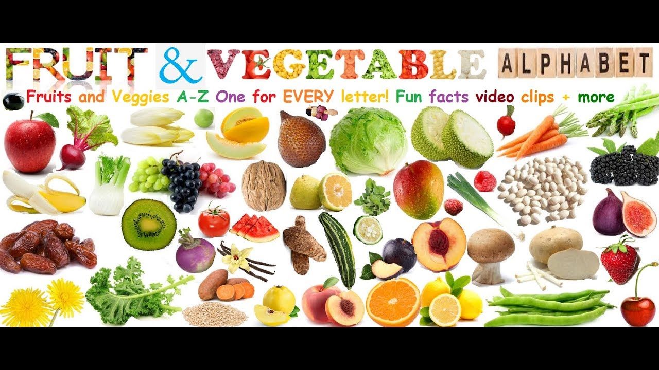 Fruit And Vegetables A Z A Fruit Vegetable For Every Letter