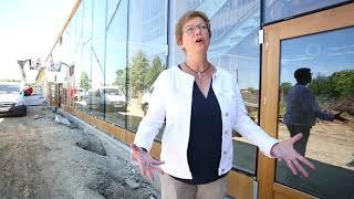 Construction de la nouvelle école à énergie positive de l'Isle d'Espagnac