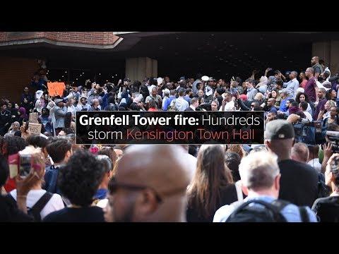 Grenfell Tower fire: Hundreds storm Kensington Town Hall