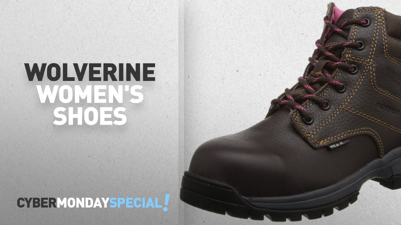 8ca9a6ac97a Top Cyber Monday Wolverine Women's Shoes: Wolverine Women's Piper Comp-Toe  Work Boot