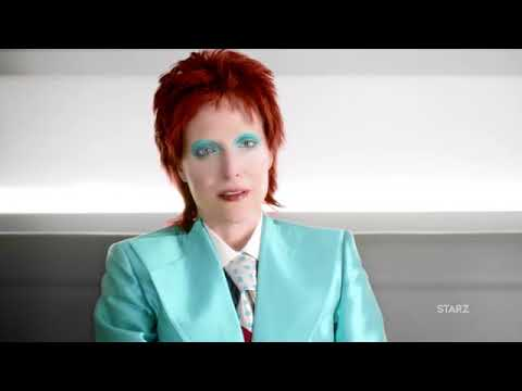 Gillian Anderson as Bowie on American Gods