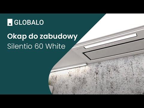 Okap do zabudowy GLOBALO Silentio 60.1 White | Ciche i wydajne okapy GLOBALO