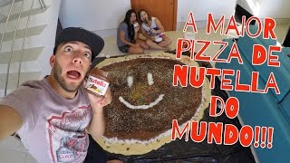 FIZEMOS A MAIOR PIZZA DE NUTELLA DO MUNDO!!!