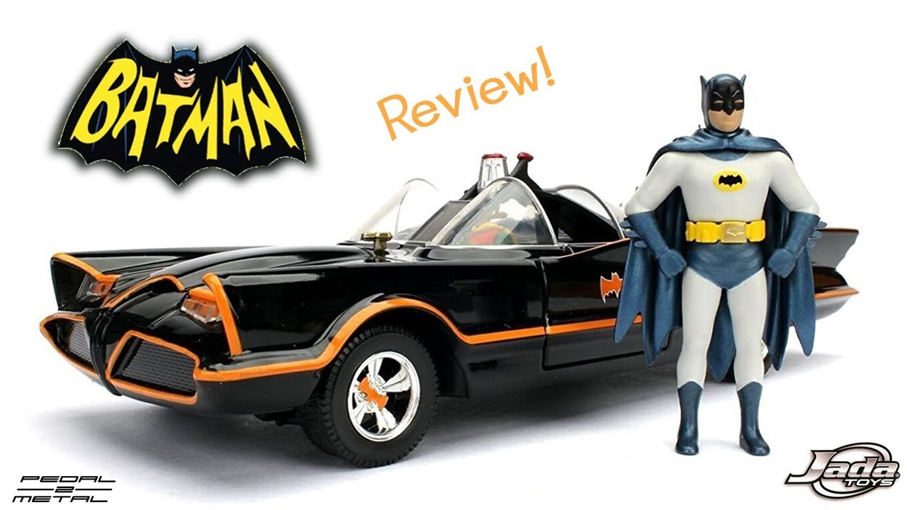 BATMAN Batmobile 1//24 Diecast Model Hotwheels 1966 Classic TV Series