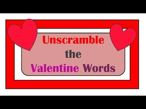 Unscramble the Valentine Words