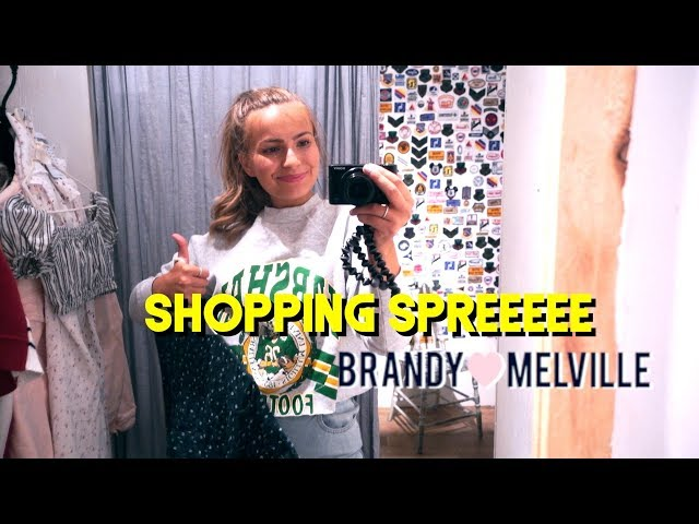 Shop with me at Brandy Melville! i think i bought the whole store whoops
