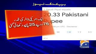 Breaking News - Google's currency converter faces glitches, shows wrong Pak rupee rates