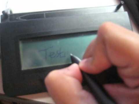 Topaz Systems Inc, SignatureGem LCD 1x5 HID-USB, Model L-T462-HSB, Demo  Tablet