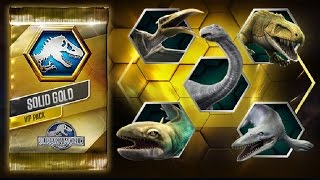 NEW VIP UPDATE ?! SOLID GOLD PACK OPENING ?! |Jurassic World The Game|Ep 120