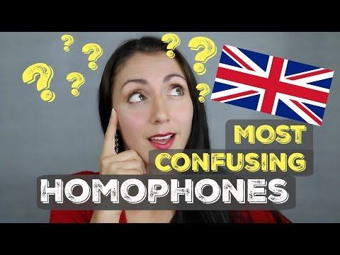 The Most Common & Confusing HOMOPHONES: ENGLISH LESSON
