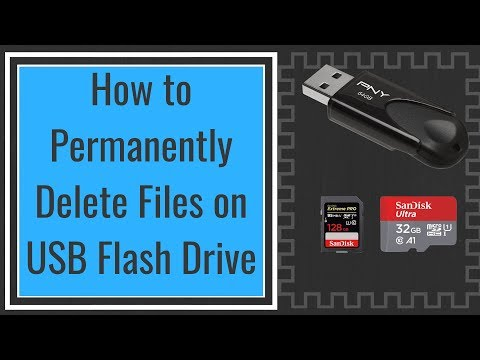 How to Permanently Delete Files on USB Flash Drive