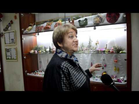 """Открытие выставки в Омске """"Елочные игрушки из прошлого в будущее"""""""