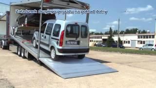Transport samochodów, auta luksusowe, wingliner, autotransporter, flatbed,  Hubbrille  Eurotechnik thumbnail