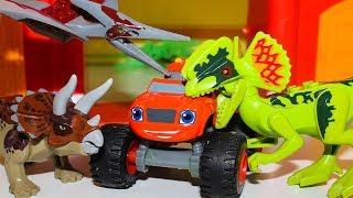 Мультики про машинки Монстр траки Вспыш и чудо машинки vs Динозавры Мультфильмы для детей #Машинки
