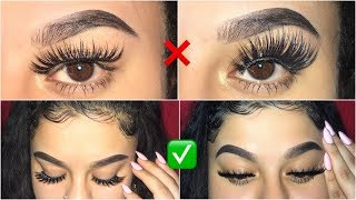 How to apply false lashes for beginners! DO'S & DONT'S