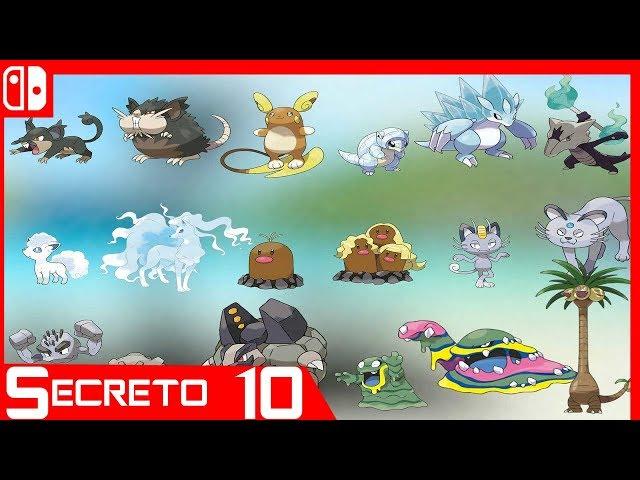 Donde Conseguir todas las Formas Alola en Pokémon Lets Go Pikachu/Eevee - Secretos #10