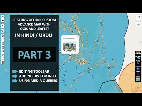Developing Offline Custom Map - Part 3 | Create advance Offline web Map in hindi - urdu