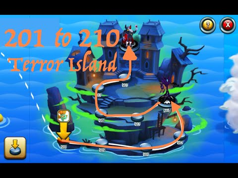 Monster Legends, Adventure Map, levels 201 to 210 (Terror Island)