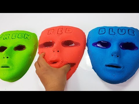 Learn Colors with Kinetic Sand Color Face The Alphabet Song Nursery Rhymes Colors for kids