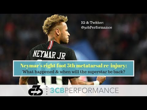 [OC] Neymar's right foot 5th metatarsal re-injury: What happened, why no surgery, and when he'll be back