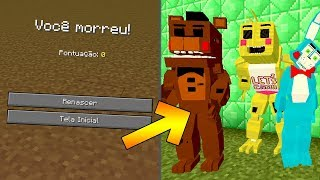 SE MORRESSE NO MINECRAFT e VIRASSE UM ANIMATRONIC ? l (FIVE NIGHTS AT FREDDY'S MINECRAFT)