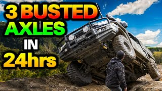 CARNAGE on Victoria's SCARIEST tracks! 4 of us nearly ROLL it! D-MAX FLOODED!