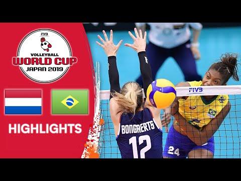 NETHERLANDS vs. BRAZIL - Highlights   Women's Volleyball World Cup 2019